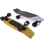 8 12mph Top Speed 6 Miles Range, Portable Electric Skateboard for Adults Beginners, 3 Level Speed Adjustable 7 Layer Canadian Maple Deck