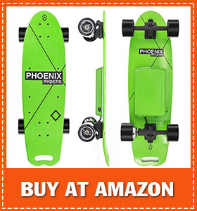 Alouette Electric Skateboard for Adult 16 MPH Top Speed 124 Miles Range 5000 mAh Lithium Battery Stylish Colorful Electric Longboard with LCD Screen Remote