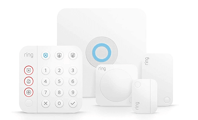 All-new Ring Alarm 5-piece kit (2nd Gen) home security system with optional 24 7 professional monitoring Works with Alexa