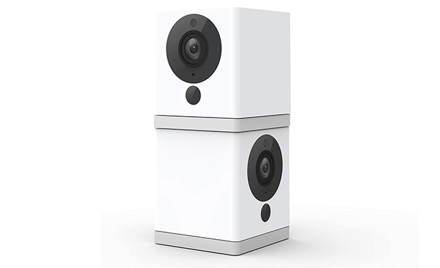 Wyze Cam 1080p HD Indoor Smart Home Camera with Night Vision, 2-Way Audio, Works with Alexa & the Google Assistant, White, 2-Pack